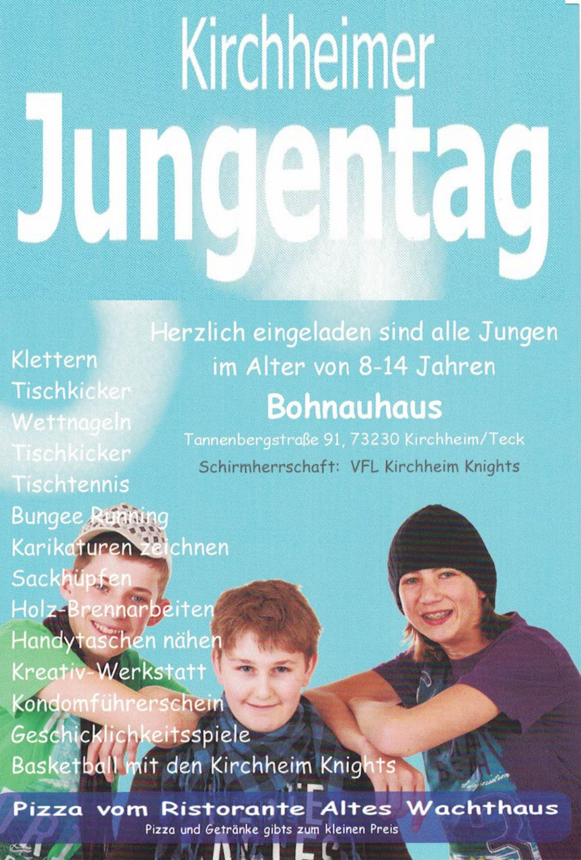 Flyer Kirchheimer Jungentag 2017
